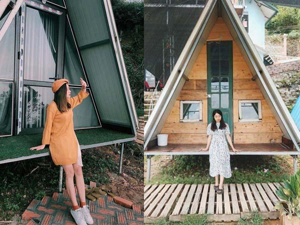 """Cuối tuần """"chạy trốn thanh xuân"""" ở lều gỗ chữ A view cả thị trấn Tam Đảo đẹp ngất ngây này"""