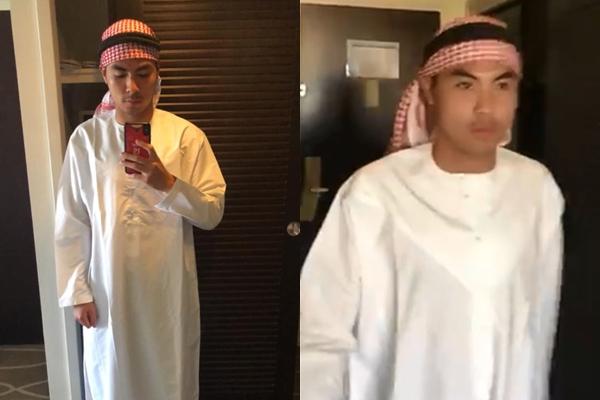 """Vừa phục hồi trí nhớ, Đức Huy đã có màn hóa thân thành """"hoàng tử Ả Rập"""" đúng nghĩa khiến fans """"cười bò"""""""