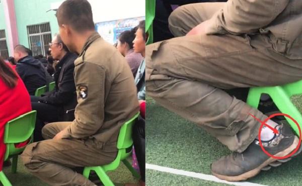 Hình ảnh xúc động mùa họp phụ huynh: Cha đi giày rách, mặc quần áo bẩn vẫn cố gắng đến họp vì con