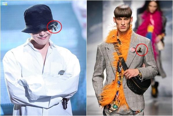 Ngạc nhiên chưa, chiếc kẹp giấy của G-Dragon trở thành item chủ đạo cho show diễn của Versace