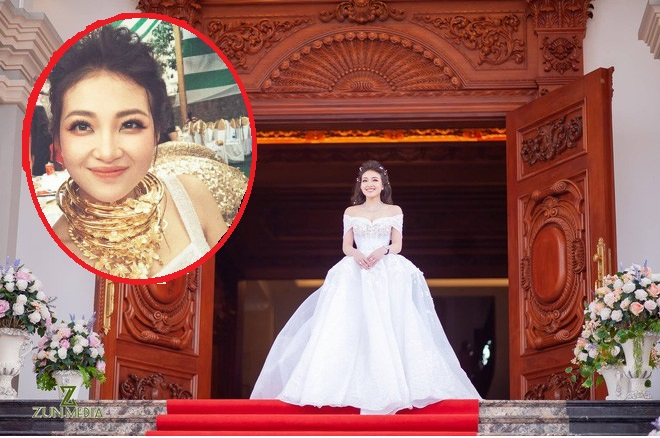 """Cô dâu """"vàng đeo trĩu cổ"""" sống trong lâu đài 7 tầng: Bố mẹ cho 200 cây vàng, 2 sổ đỏ và rước dâu bằng Rolls-Royce Phantom 35 tỷ"""