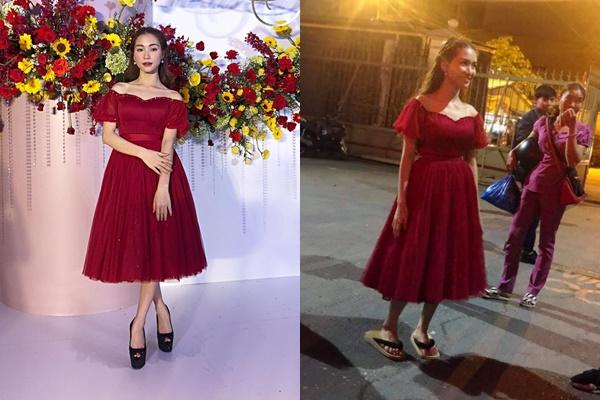 """Lộ ảnh hậu trường ăn mặc luộm thuộm đi ăn cưới của Hòa Minzy, có dấu hiệu mắc """"bệnh"""" giống Nam Em?"""