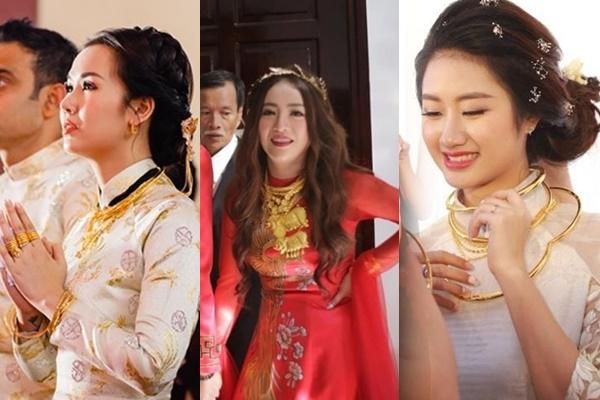 """Không chỉ riêng Võ Hạ Trâm, loạt mỹ nhân Việt cũng thuộc hàng """"cô dâu vàng"""", đeo """"của hồi môn"""" nặng đến trĩu cổ"""
