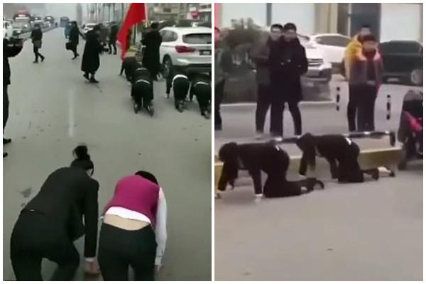 """Phạt nhân viên bò lê giữa phố mùa đông vì không đạt doanh số bán hàng, một công ty Trung Quốc bị """"sờ gáy"""""""