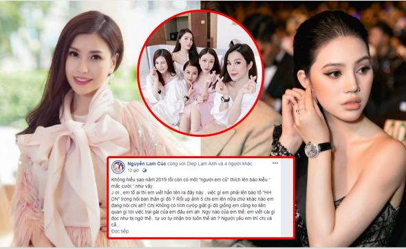 Jolie Nguyễn vừa tố bạn thân cướp người yêu, Hoa hậu Lam Cúc gọi hội chị em chửi thẳng mặt!