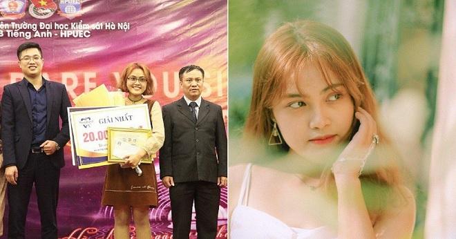 Nữ sinh Đại học Hà Nội xinh xắn xuất sắc trở thành quán quân cuộc thi hát tiếng Anh, được khen hát hay như bản gốc