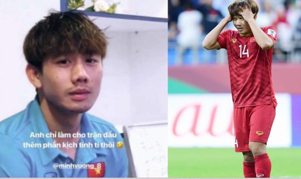 """Minh Vương buồn bã vì đá hỏng penalty, Xuân Trường lên Instagram nói câu như """"xát muối vào tim""""!"""