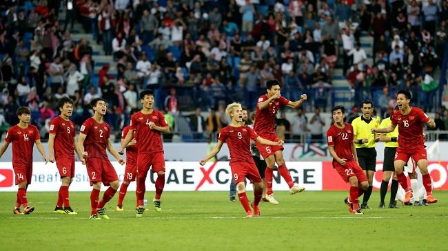 Không chỉ vào tứ kết Asian Cup, chiến thắng thuyết phục trước Jordan còn giúp ĐT Việt Nam vượt qua mốc 100 trên BXH FIFA