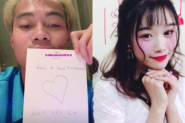 """Góc ngôn tình: Chẳng thể về kỷ niệm 5 năm yêu nhau, Văn Toàn chỉ có thể gửi tặng bạn gái 3 chữ: """"Anh yêu em"""""""