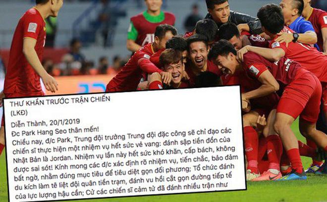 Bức thư gửi ĐT Việt Nam trước vòng 1/8 Asian Cup 2019 theo phong cách chuyên Sử gây sốt MXH