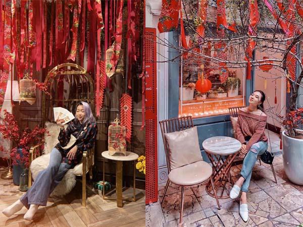 """Xứng danh góc photobooth """"thần thánh"""" nhất dịp Tết này chính là những chiếc ghế """"bùa yêu"""" ở quán cafe đẹp nhất Hà Thành này"""