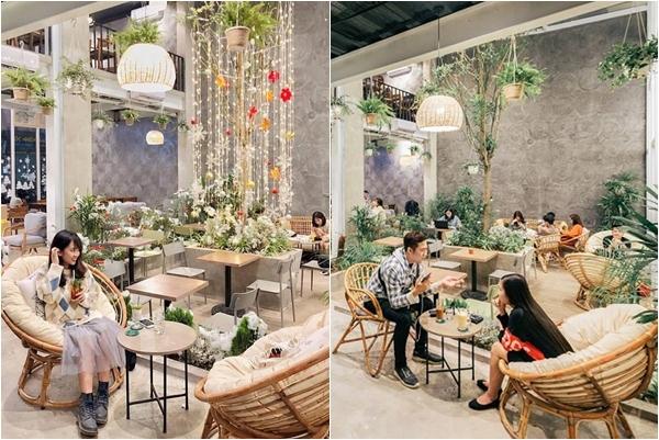 """""""Phát cuồng"""" tiệm cà phê xanh mướt giữa lòng thủ đô khiến giới trẻ ngỡ lạc rừng nhiệt đới"""