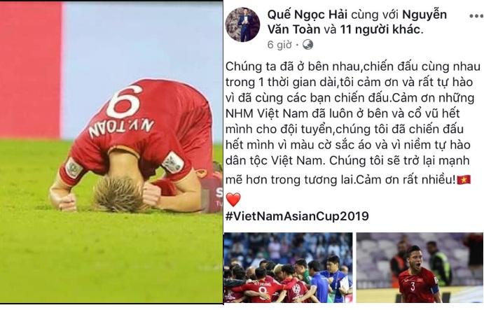 Không thể mang về chiến thắng, các cầu thủ Việt Nam đã viết điều này trên Facebook, đọc mà muốn khóc!
