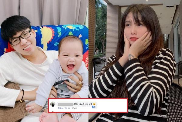 """Vừa bị vợ tố, Khánh Đặng liền đăng ảnh avatar vui vẻ bên con trai, ai ngờ bị dân mạng kéo vào chỉ trích """"mặc váy đi anh""""!"""