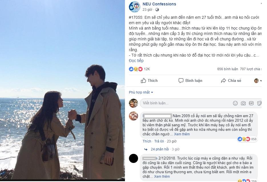 """Yêu """"chàng trai năm 17 tuổi"""", cô gái đợi đến năm 27 tuổi để nhận lời cầu hôn, ai ngờ """"Anh mất vào 1 ngày gần Tết"""""""