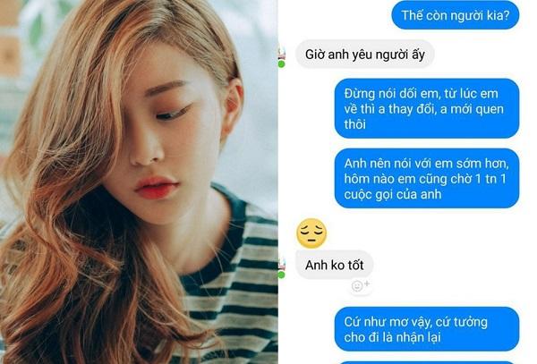 """Vừa xa nhau được vài ngày để về quê ăn Tết, cô gái """"cay đắng"""" nhận tin nhắn """"anh yêu người khác rồi"""" từ người yêu"""