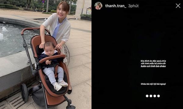 Giận chồng chưa đủ, vlogger Thanh Trần bất ngờ đăng status đen xì cực gắt về nhà chồng: Ác độc, chia cắt tình mẫu tử!