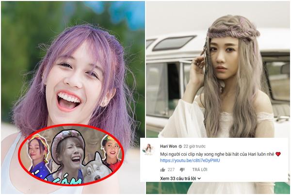 """Góc kém sang: Hari Won phải """"ké fame"""" Hậu Hoàng để tăng view MV mới, comment dạo vì quá xịt"""