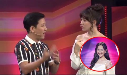 """Bị Trường Giang so sánh với nhan sắc Á hậu, Hari Won chỉ """"bộp"""" ngay một câu: """"Vợ Trấn Thành chỉ thế thôi"""""""