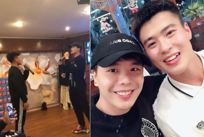 """Duy Mạnh, Quang Hải """"lập nhóm nhạc"""" cùng Trịnh Thăng Bình hát hit """"Người ấy"""", fan khuyên: """"Hai anh nên tiếp tục đá bóng"""""""