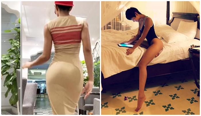 """Với vòng 3 gần 1 mét, Hoa hậu HHen Niê không có đối thủ cạnh tranh về độ """"bốc lửa"""""""