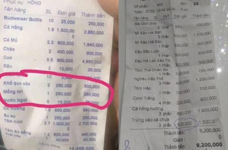 """Giật mình trước hóa đơn """"khủng"""" ngày Tết: Trứng xào cà chua 500k, đậu bắp luộc 250k đến cơm trắng cũng lên đến 200k"""