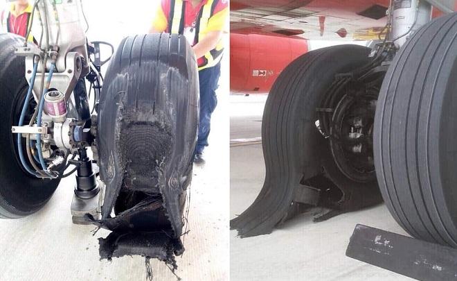 Lộ hình ảnh máy bay nổ lốp, Vietjet lên tiếng tuyên bố đã tiến hành thay lốp ngay sau đó