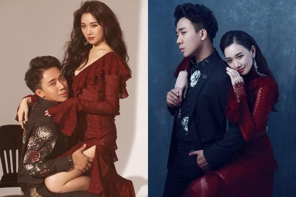 """Đúng Valentine, Trấn Thành - Hari Won tung trọn bộ ảnh đôi """"quấn quýt"""" khiến fans ghen tị"""