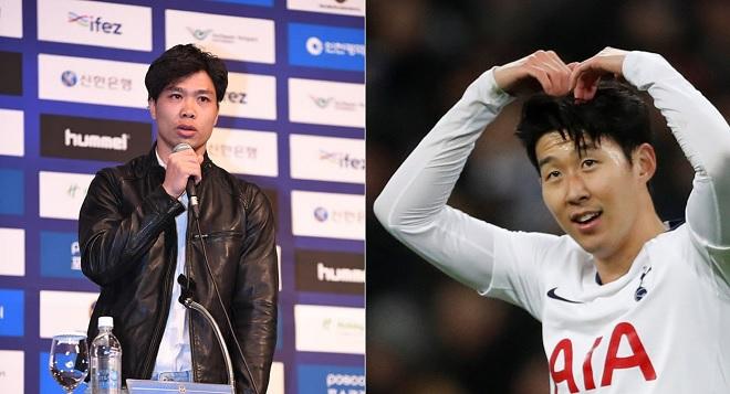 Ra mắt đội bóng mới ở Hàn Quốc, Công Phượng tuyên bố Son Heung-min là hình mẫu mình muốn học theo