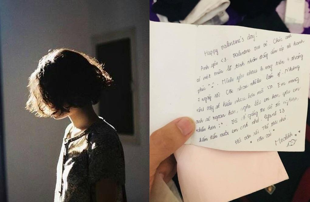 Vừa mới chia tay, chàng trai đã bật khóc nhớ người yêu khi đọc lại dòng thư bạn gái gửi đúng ngày Valentine 3 năm trước