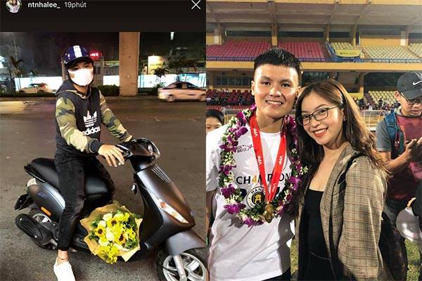"""Được Quang Hải ôm bó hoa lớn đến tặng nhân ngày Valentine, Nhật Lê vẫn """"vô cảm"""" còn lên mạng than """"chán đời"""""""