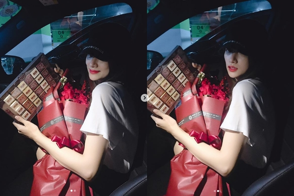 """Chỉ với một hành động nhỏ này trong ngày valentine, CĐM đã đặt ra nghi vấn về """"người tình bí ẩn"""" của Hương Giang"""