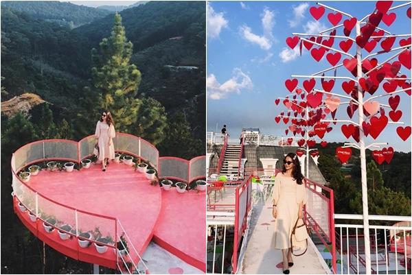 """Bóc """"tem"""" cây cầu trái tim mới """"coong"""" nằm giữa thung lũng ở Đà Lạt, chỉ cần đứng vào cũng có ngay ảnh đẹp"""