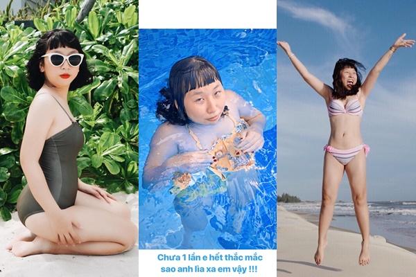 Trên đời chắc chỉ mình Trang Hý, trên bờ đẹp đẽ bao nhiêu, xuống nước phát là không nhận ra người