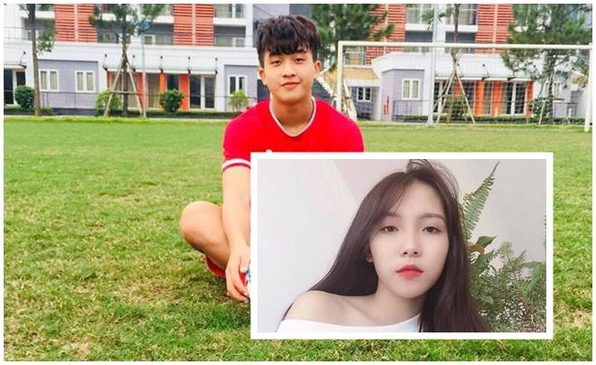 Mới nổi lên trong đội hình U22 Việt Nam, Danh Trung đã khiến fangirl tiếc hùi hụi khi có bạn gái xinh như hot girl