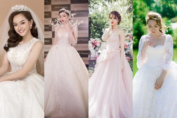 """Những cô dâu """"độc thân"""" trong Vbiz diện váy cưới, đến Mỹ Tâm khiến ai cũng đứng ngồi không yên"""