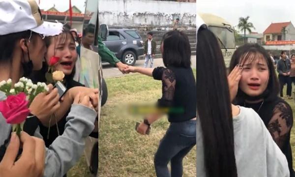 Cô gái Nghệ An gào khóc níu tay người yêu đi nhập ngũ, hứa nhất định sẽ chờ 2 năm nữa về làm đám cưới!