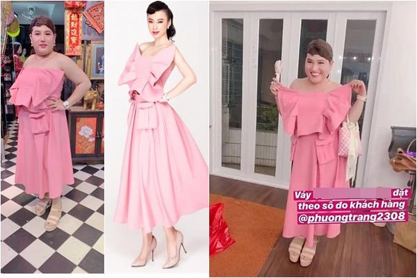 """2 lần mua váy chính em gái Angela Phương Trinh thiết kế, fan """"cứng"""" đều nhận kết đắng"""