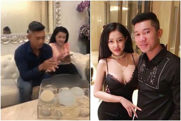 """Lương Bằng Quang gây tranh cãi khi ngồi """"bóp nắn"""" chọn túi ngực cho bạn gái kém 16 tuổi"""