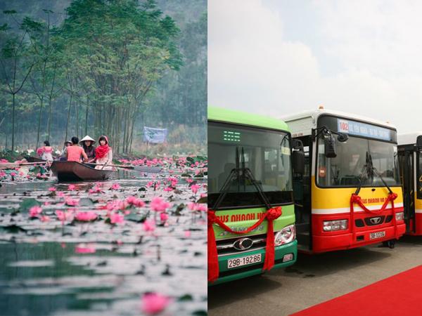 """Chính thức hoạt động tuyến xe bus trợ giá """"siêu xịn"""" về chùa Hương chỉ với 9.000 đồng/lượt"""