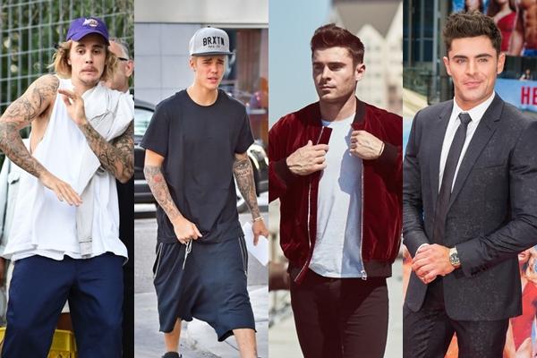 """Đặt lên bàn cân phong cách thời trang của Justin Bieber và """"bạn trai mới"""" của Selena: Ai mới là cực phẩm?"""