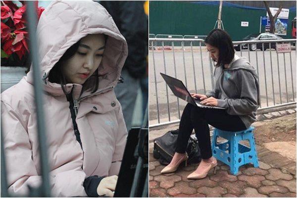 """Nữ phóng viên Hàn Quốc gây sốt CĐM bởi """"góc nghiêng thần thánh"""" khi đến Việt Nam tác nghiệp"""