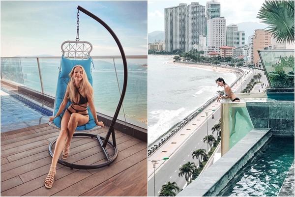 """Tròn mắt trước khách sạn có """"hồ bơi vô cực"""" trên cao siêu đẹp ở Nha Trang"""