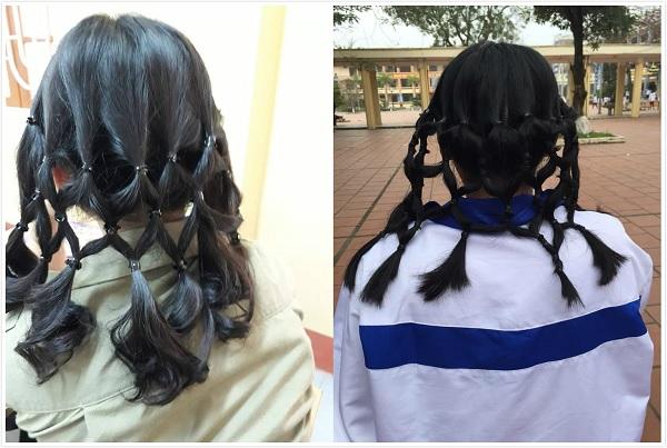 """Tết tóc đuôi sam như lưới bắt cá: """"Trend"""" mới của học sinh trường """"người ta"""" đấy!"""