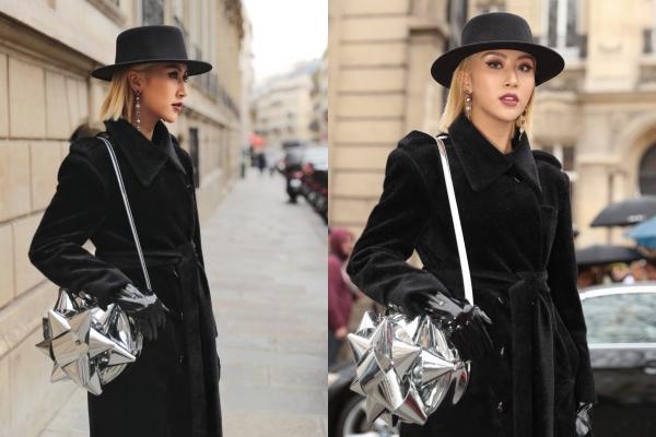 """Quỳnh Anh Shyn hoá """"nữ điệp viên"""" ngồi hàng ghế đầu dự show ở Paris Fashion Week"""