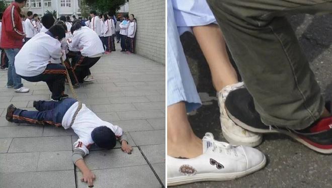 """Cười không """"nhặt được mồm"""" với màn kéo co đến bật đế giày, giẫm gãy chân đồng đội của học trò trường """"người ta"""""""