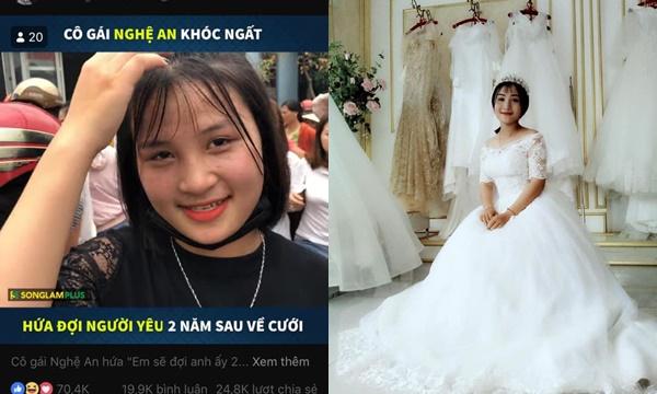 Cô gái Nghệ An khóc ngất níu tay bạn trai đi lính, hứa đợi 2 năm về kết hôn bất ngờ tung ảnh cưới lên FB