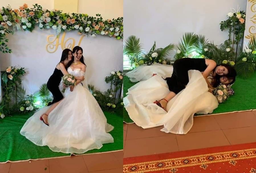 Thấy bạn thân cuối cùng cũng được người rước, cô gái mừng rơi nước mắt hơn cả đám cưới mình