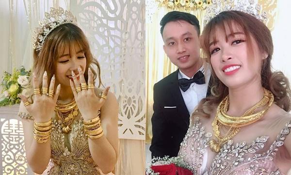 Lấy chồng đẹp trai lại có vàng đeo đầy người, đây chính là cô dâu may mắn nhất ngày hôm nay!