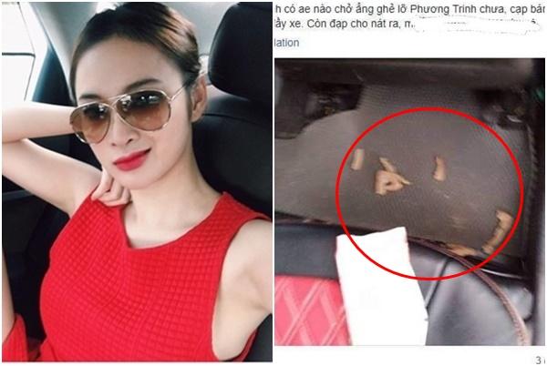 Angela Phương Trinh bị tài xế taxi tố xả rác bừa bãi ra xe, mặc lộng lẫy mà ăn bẩn sống bẩn?